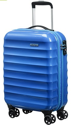 AMERICAN TOURISTER PALM  VALLEY CABINA RYANAIR 4 RUOTE  BLUE SPARKLE