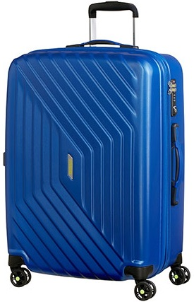 NUOVO AMERICAN TOURISTER AIR FORCE 1 TROLLEY MEDIO RIGIDO ESPANDIBILE 4 RUOTE CON TSA