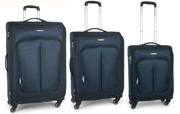 SET 3 TROLLEY 4 RUOTE CON CABINA 20 CM RONCATO LINEA SMART 2013 ART 7020