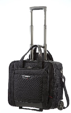 SAMSONITE PRO-DLX 4 TROLLEY PILOTA RYANAIR PORTA PC 16.4 E DOCUMENTI