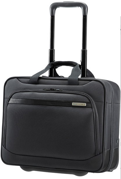 SAMSONITE VECTURA - TROLLEY PILOTA A DUE MANICI PORTA PC15.6 - ART. 39V009