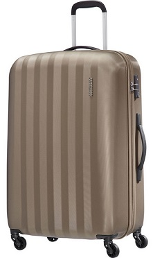 AMERICAN TOURISTER BY SAMSONITE AT PRISMO TROLLEY GRANDE IN POLICARBONATO 4 RUOTE CON CHIUSURA TSA