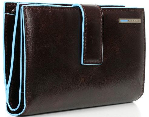 3115c3667d PIQUADRO BLUE SQUARE - PORTAFOGLIO DONNA CON PORTA MONETE E CARTE DI  CREDITO ART. PD1353B2