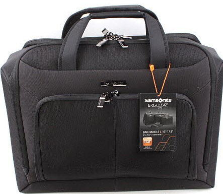 CARTELLA A DUE MANICI SAMSONITE PORTA PC 17,3'' LINEA ERGO-BIZ 2013 ART 46U007